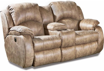 Southern Motion Cagney Power Reclining Console Loveseat w/ Power Headrest