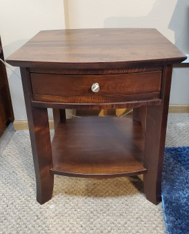 Amish Schrock's Brown Maple End Table