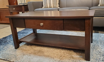 Amish Schrock's Brown Maple Coffee Table