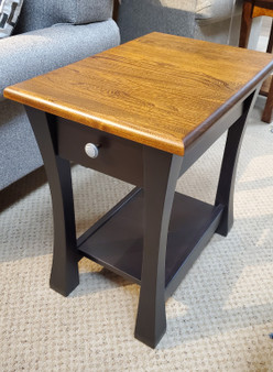Amish Schrock's 2-Tone Elm Chairside Table
