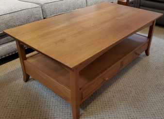 Amish Crystal Valley Cherry Open Coffee Table