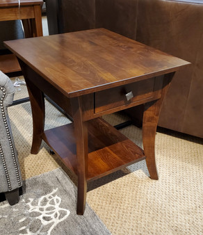 Amish Superior Maple Drawer End Table
