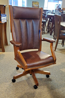 Amish home office desk chair high quality high end