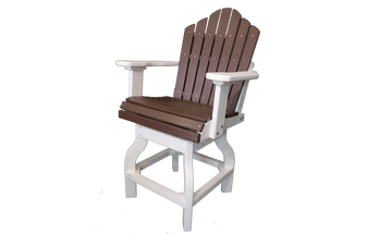 Amish Outdoor Poly Lumber Counter Height Arm Chair