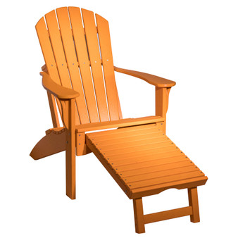 Amish Poly Adirondack Chair with Slide Out Ottoman