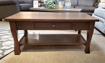 Amish Cherry Coffee Table with a twist