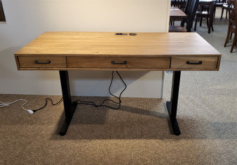 Amish Elm Lift Desk