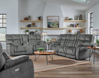 Southern Motion Wild Card Sofa- Reclining Sofa with drop down console cup holders american made furniture free delivery