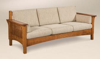 Amish AJ's Furniture Pioneer Sofa Quartersawn Oak Quality Durable