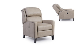 Smith Brothers Furniture 541 Leather Chair and Ottoman
