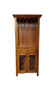 Amish Wine Tower in Quartersawn Oak