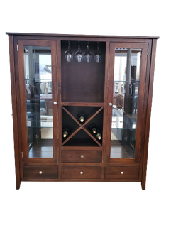 Amish Handcrafted Wine Cabinet