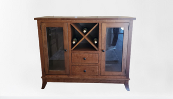 Amish Wine Buffet in Solid Cherry
