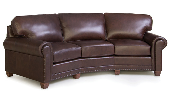 Smith Brothers 393 Leather Conversation Sofa
