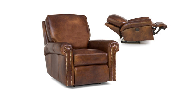 Smith Brothers 416  Leather Swivel Gliding Recliner
