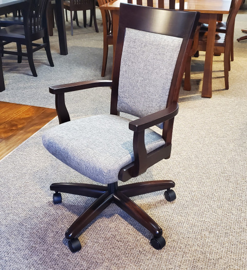 Amish Framco Brown Maple Caster Chair