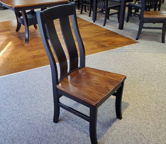 Amish Elm and Maple Side Chair Two Tone Quality
