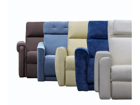 ElRan 6000 Design Your Own Leather Power Reclining Sofa