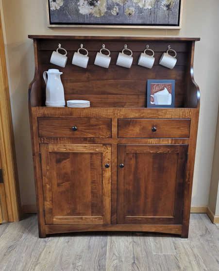 Amish Handcrafted Coffee Bar. American Made Quality