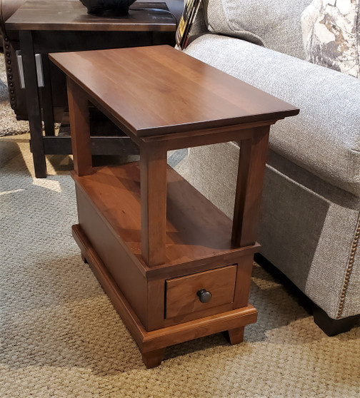 Amish Cherry Chairside Table