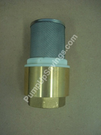 1.5 inch Brass Foot Valve with screen
