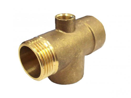 Pipe Tee with pressure gauge port