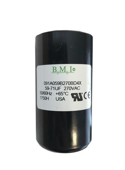 59 MFD capacitor replacement for 3/4HP Pentair, Berkeley, Sta-Rite capacitor start and capacitor run (CSCR) type control boxes. (U17-1423)