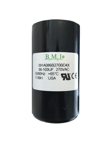 86 MFD capacitor replacement for 1HP Pentair, Berkeley, Sta-Rite capacitor start and capacitor run (CSCR) type control boxes. (U17-1424)