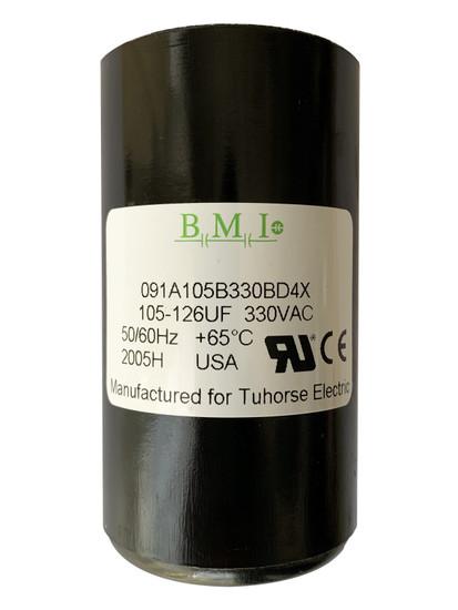 105-126 MFD capacitor replacement for 1HP Pentair, Berkeley, Sta-Rite capacitor start and induction run (CSIR) type control boxes. U17-1425 , U17-2065