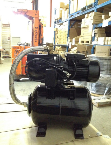 Tuhorse THJ16-160 1HP Shallow Well Jet Pump with 6.3 US Gal Pressure Tank and Automatic Pressure Control in our Delta BC warehouse