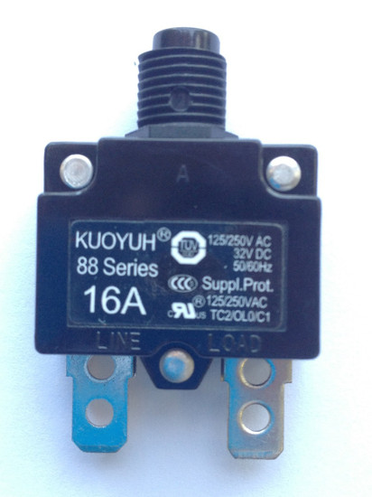 18A - 20A Main Breaker / Overload Protector for 3HP Single Phase Control Box