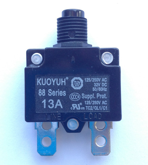 13A/14A Main Breaker / Overload Protector for 2HP Single Phase Control Box