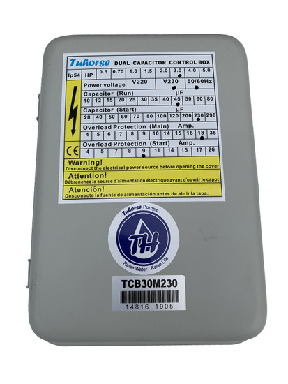 3HP Control Box. Compatible Replacement for Franklin 823028110 and Goulds CB30412CR