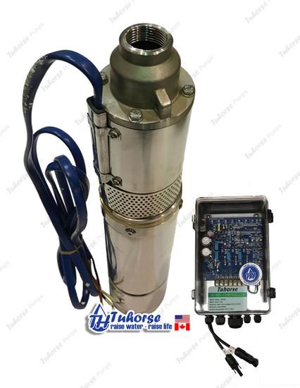 "Tuhorse 4"" 500W solar pump and control box"