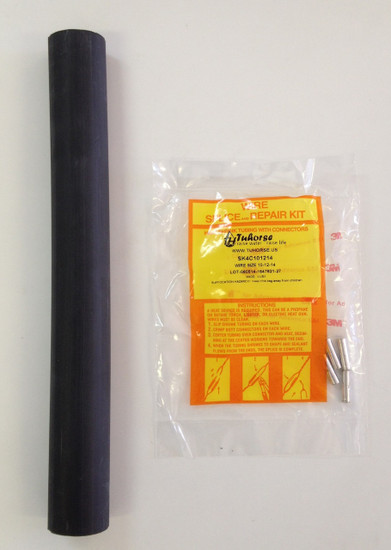 """Splice Kit (Full Kit with 12"""" outer tube) for pump wire, AWG #10 #12 #14, Submersible"""