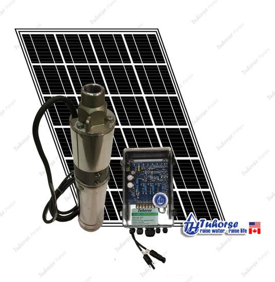 Tuhorse 500V solar pump kit with 1 solar panel