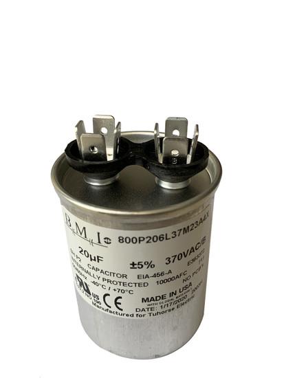20uF motor run capacitor angle view