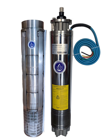 """8"""" Submersible pump, stainless steel wet-end and motor, water filled cooling"""