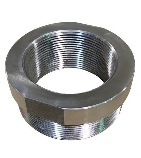 """5"""" NPT Male to 4"""" NPT Female adaptor / reducer.  Stainless Steel"""