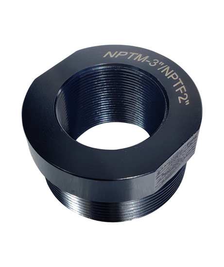 3 inch Pipe thread adaptor British Standard to National Pipe Thread (BSP to NPT)