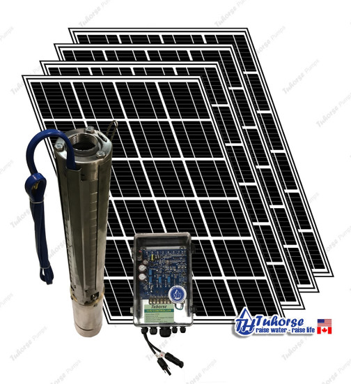 Tuhorse solar pump kit - 1500 Watts deep well pump with 6 x 280W PV panels
