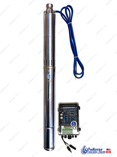 """2"""" 370W Solar Submersible Deep Well Pump and Control Box"""