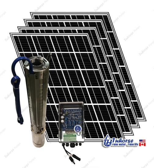 Tuhorse solar pump kit - 1500 Watts deep well pump with 4 x 280W PV panels