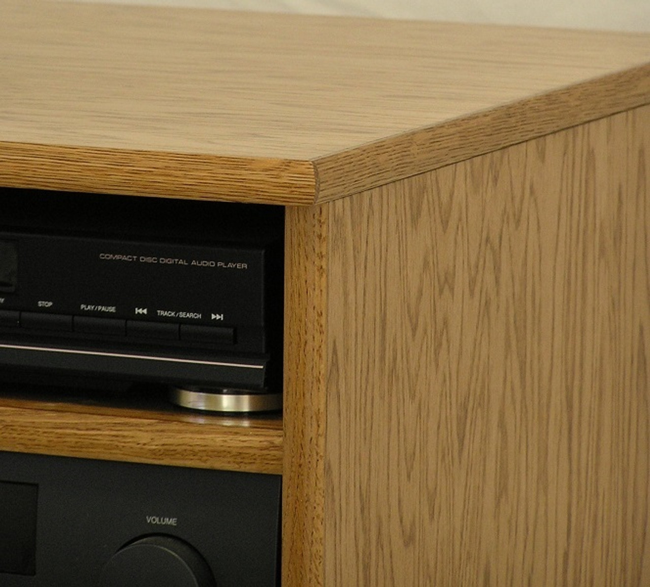 Stereo cabinet top corner design detail