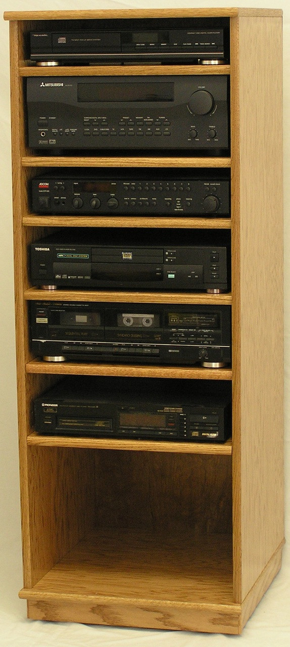 Modern Component Stereo Cabinet 53 Quot High Oak Maple Free