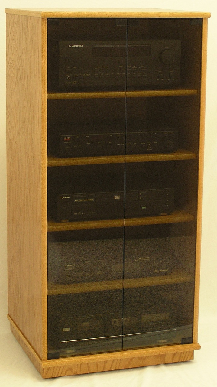 New Stereo Cabinet With Glass Doors Decoration Ideas