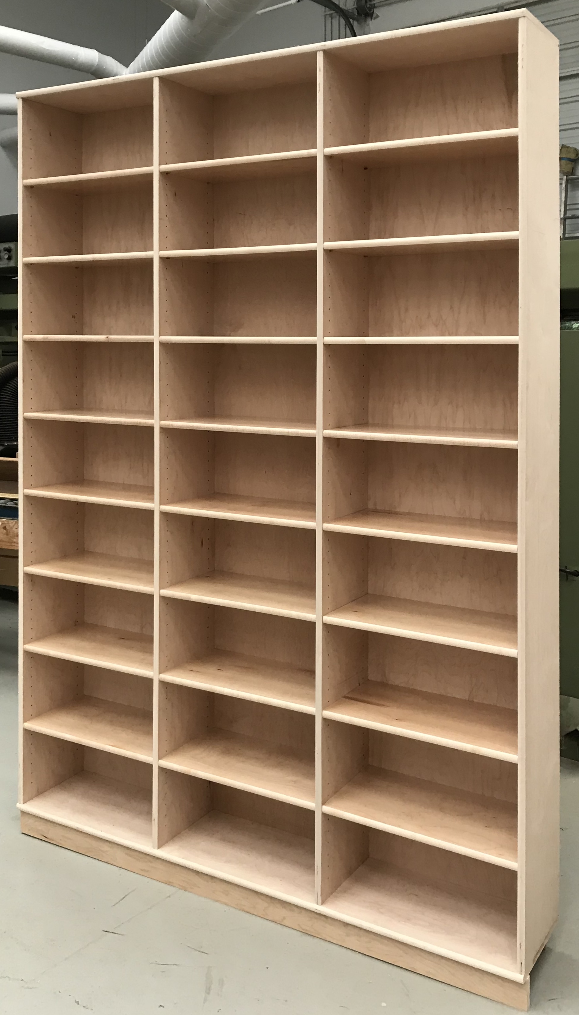 8 foot tall maple bookcase 6 feet wide