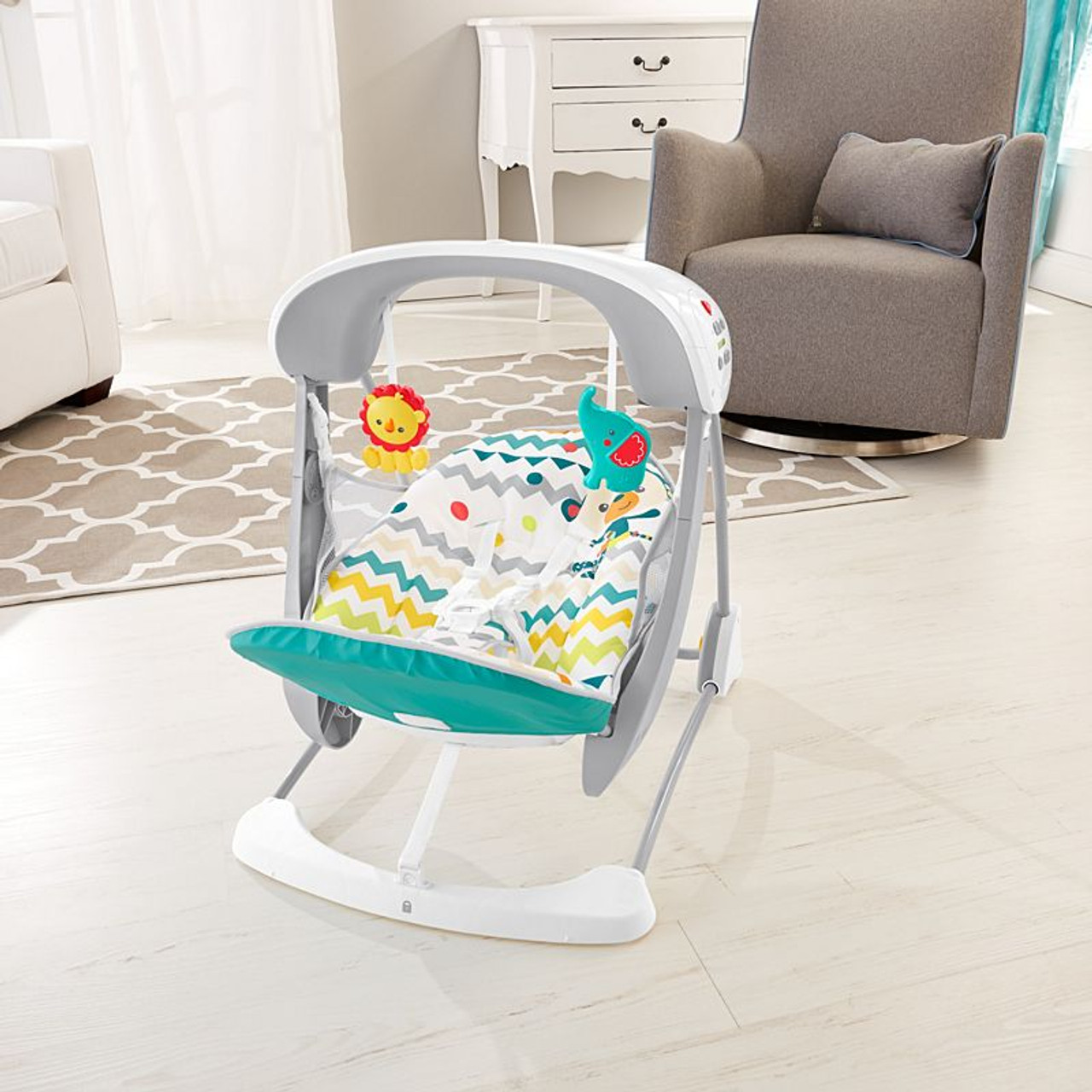 Fisher Price Colourful Carnival Take-Along Swing And Seat   DPV46