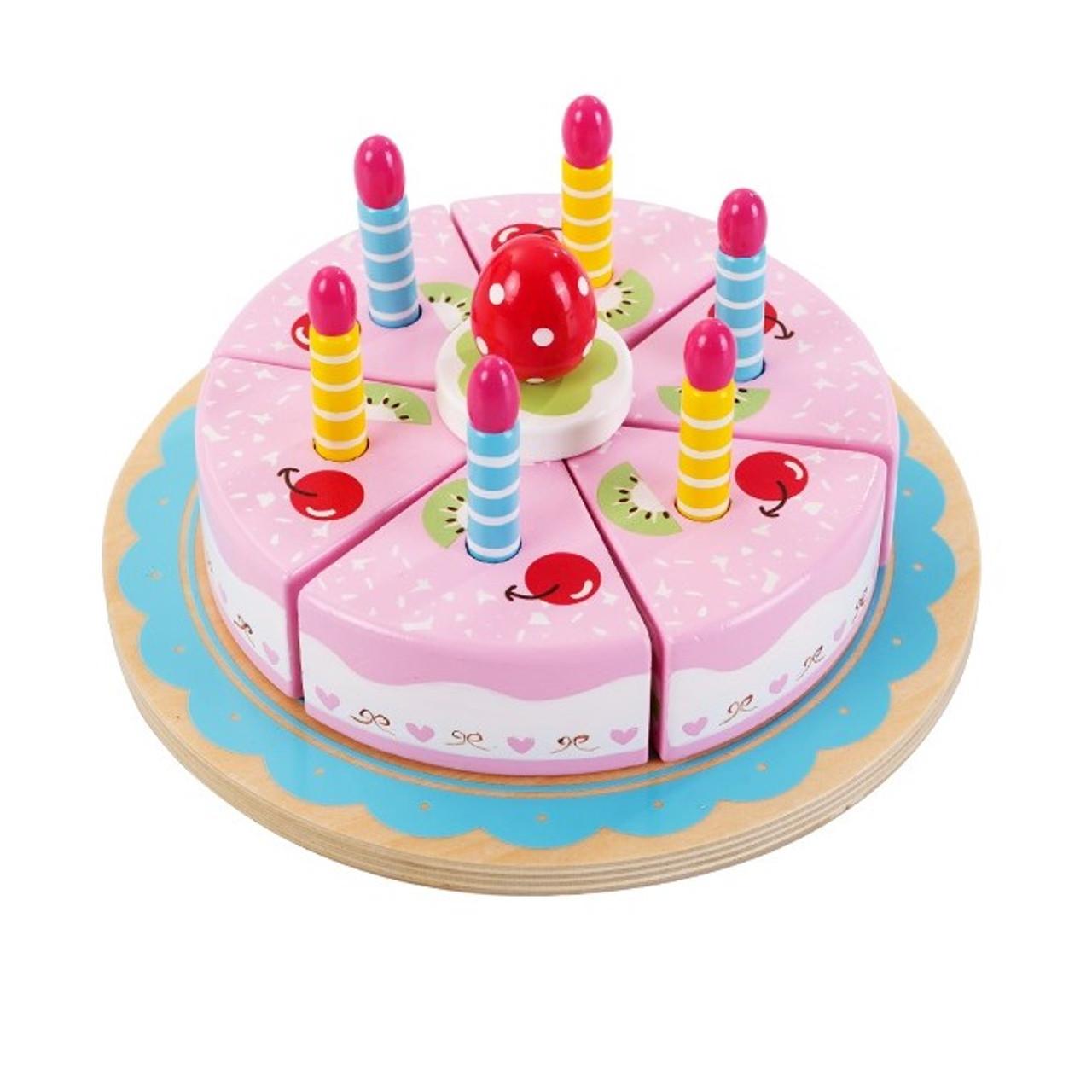 Astonishing Wooden Birthday Cake Sawt18210 3 Toymate Your Local Toy Store Funny Birthday Cards Online Drosicarndamsfinfo