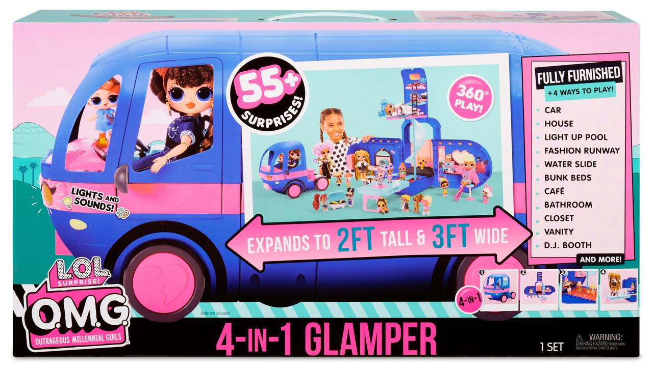 L.O.L 2-in-1 Glamper Fashion Camper with 55 Surprises Surprise